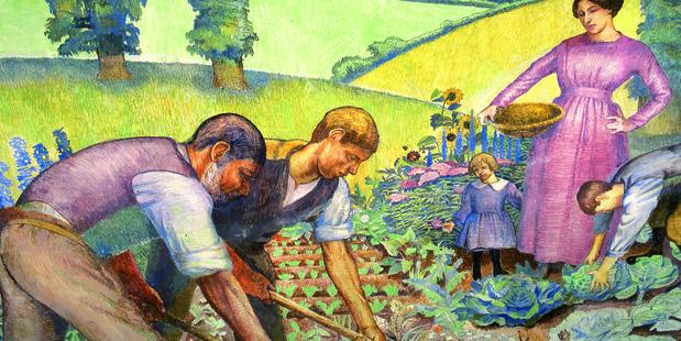 picking vegetables d carrington