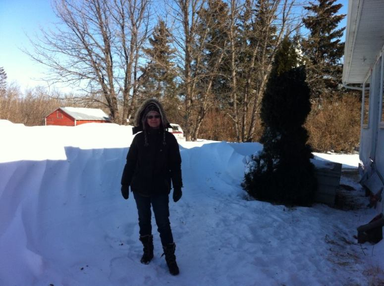 Kathy and Snowbank