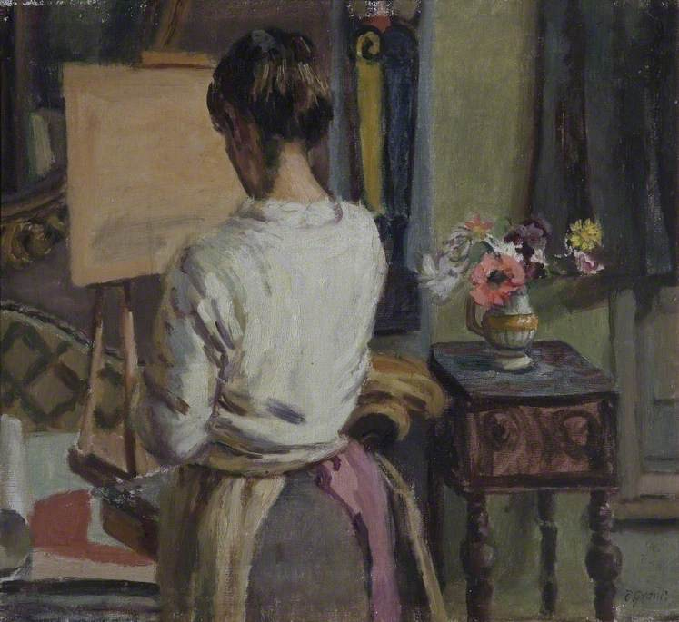 Grant, Duncan, 1885-1978; Lady at an Easel