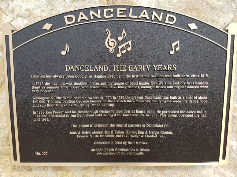 Danceland plaque